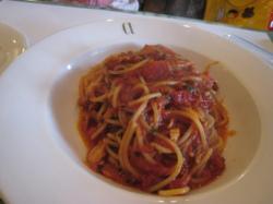 ツナとトマトのスパゲティー