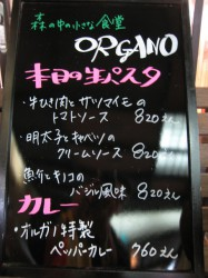 森の中の小さな食堂 ORGANO(オルガノ)  メニュー一部2