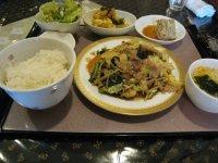 Aランチ 豚肉と野菜炒め