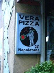 スパッカナポリ 真のナポリピッツァ協会看板